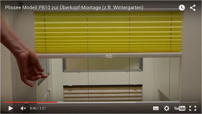plissee modell pb10 zur berkopf montage z b wintergarten plissee. Black Bedroom Furniture Sets. Home Design Ideas