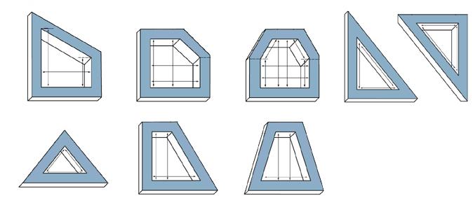 Ermittlung der lichten Maße von Fensterflächen mit Sonderformen, Flügellichtmaß