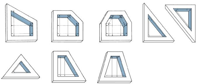 Ermittlung der lichten Maße von Fensterflächen mit Sonderformen, kleinstes genommenes Maß