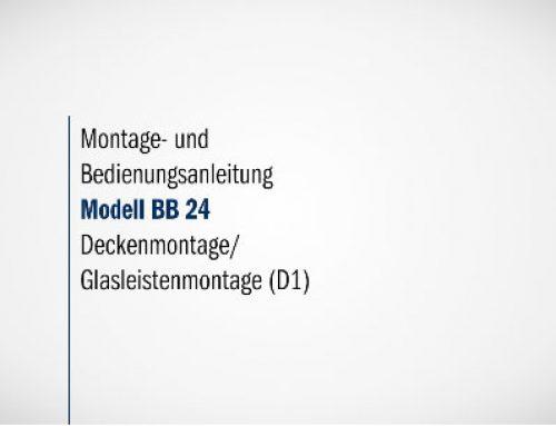 Montage BB 24 Deckenmontage / Glasleistenmontage (D1)